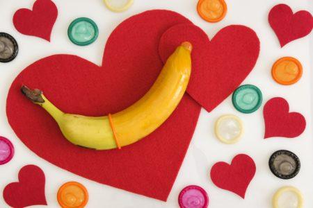 Condom heart